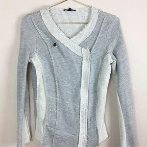 Drew Asymmetric Zip Long Sleeve Sweater